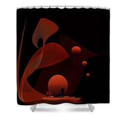 Penman Original-451 Out Of The Rat Race Into A Space Of Wellbeing Shower Curtain by Andrew Penman