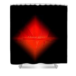 Shower Curtain featuring the painting Penman Original - Pillow Talk by Andrew Penman