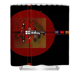 Shower Curtain featuring the painting Penmanorigina-260 by Andrew Penman