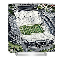 Penn State Beaver Stadium Whiteout Game University Psu Nittany Lions Joe Paterno Shower Curtain by Laura Row