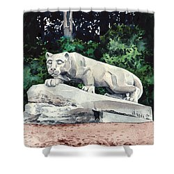Penn State Nittany Lion Shrine University Happy Valley Joe Paterno Shower Curtain by Laura Row