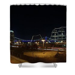Penn's Landing Shower Curtain by Leeon Pezok