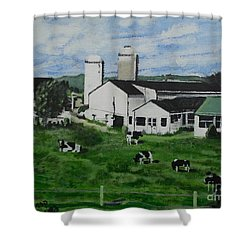 Pennsylvania Holstein Dairy Farm  Shower Curtain