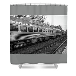 Pennsylvania Reading Seashore Lines Train Shower Curtain by Terry DeLuco
