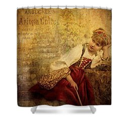 Penny For Your Thoughts Shower Curtain by Wallaroo Images