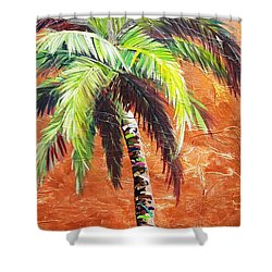 Penny Palm Shower Curtain