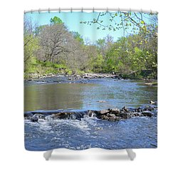 Shower Curtain featuring the photograph Pennypack Creek - Philadelphia by Bill Cannon