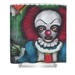 Pennywise Shower Curtain by Abril Andrade Griffith