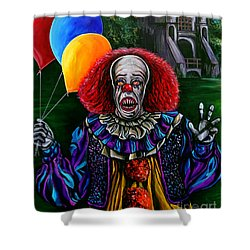 Pennywise It Shower Curtain by Jose Mendez