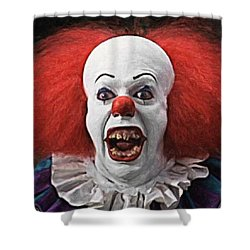 Pennywise The Clown Shower Curtain by Taylan Apukovska