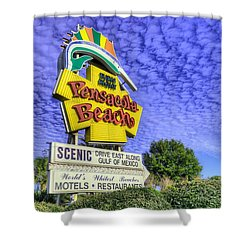 Pensacola Beach Sign Shower Curtain