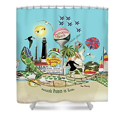 Pensacola Protects It's Turtles Shower Curtain