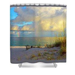 Pensacola Rainbow At Sunset Shower Curtain