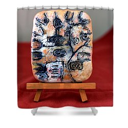 Pensamiento Abstracto Shower Curtain