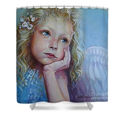 Pensive Angel Shower Curtain