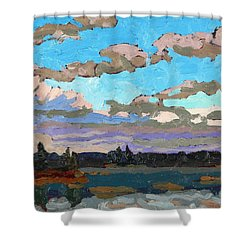 Pensive Clouds Shower Curtain