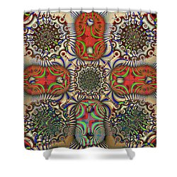 Pent-up-agram Shower Curtain by Jim Pavelle