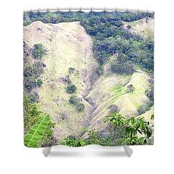 Penuelas, Puerto Rico Mountains Shower Curtain
