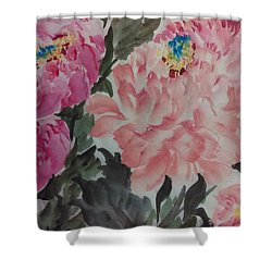 Peoney20161230_622 Shower Curtain by Dongling Sun