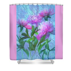 Peonies #3 Shower Curtain by John Selmer Sr