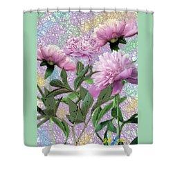 Peonies 6 Shower Curtain by John Selmer Sr