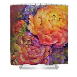 Peonies At Sunset Shower Curtain
