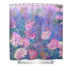 Peonies Shower Curtain by Claire Bull