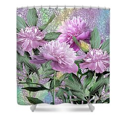 Peonies Shower Curtain by John Selmer Sr