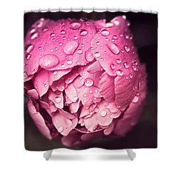 Peony In The Rain Shower Curtain