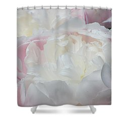 Shower Curtain featuring the photograph Peony by Karen Shackles
