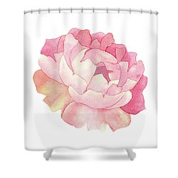 Peony Watercolor  Shower Curtain by Taylan Apukovska