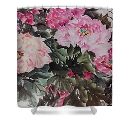 Peony20170126_2 Shower Curtain by Dongling Sun
