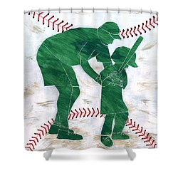 People At Work - The Little League Coach Shower Curtain