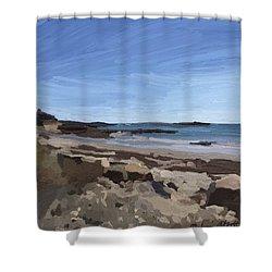 People Beach And Milk Island, Rockport, Ma. Shower Curtain by Melissa Abbott