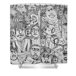 People People People Shower Curtain by Michelle Calkins