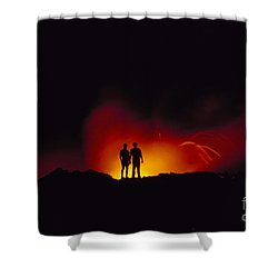 People View Lava Shower Curtain by Ron Dahlquist - Printscapes