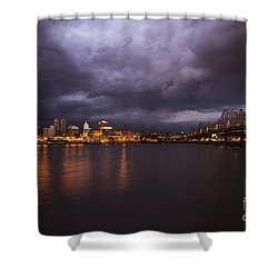 Shower Curtain featuring the photograph Peoria Dramatic Skyline by Andrea Silies