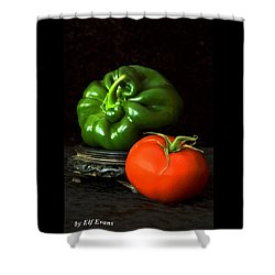 Pepper And Tomato Shower Curtain