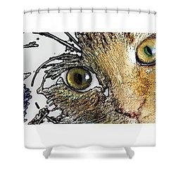 Pepper Eyes Shower Curtain
