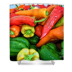 Pepper Medley 1 Shower Curtain by Dee Flouton