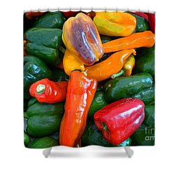 Pepper Medley 2 Shower Curtain by Dee Flouton