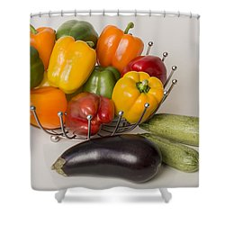 Pepper To Squash Shower Curtain