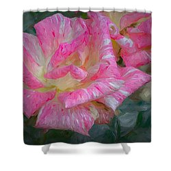 Peppermint Rose Shower Curtain
