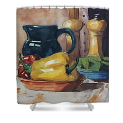 Peppers And Jug Shower Curtain