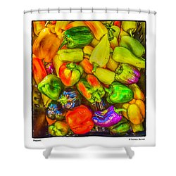 Peppers Shower Curtain by R Thomas Berner