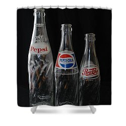 Pepsi Cola Bottles Shower Curtain by Rob Hans