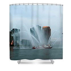 Pepsi Sign And Fdny  Shower Curtain by Catie Canetti