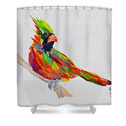 Perch With Pride Shower Curtain by Beverley Harper Tinsley