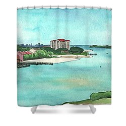 Perdido Key River Shower Curtain