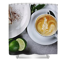 Perfect Breakfast Shower Curtain by Happy Home Artistry